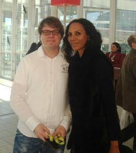 Oliver Dutschmann und Barbara Becker auf der Heimtextil in Frankfurt (12.01.2013)